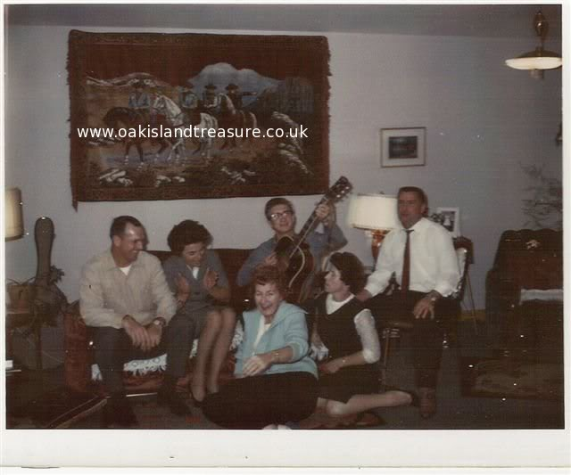 A young and handsome Dan Blankenship, Mrs. Dunfield and 4 friends at an evening's festivities. All of the people that my parents met in Chester and Dartmouth, etc. were kind and gracious people. Nova Scotians know how to party as well!
