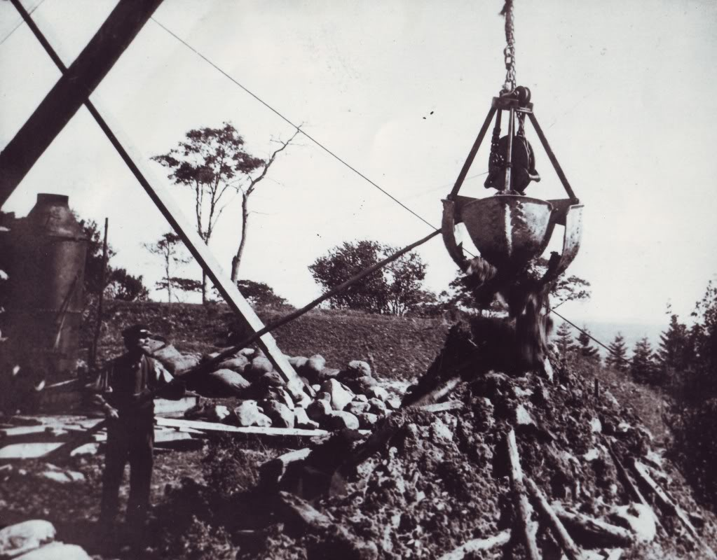 Working on Oak Island, 1909