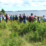 Walking tour on Oak Island, 2006
