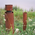Old drill hole shafts, Oak Island