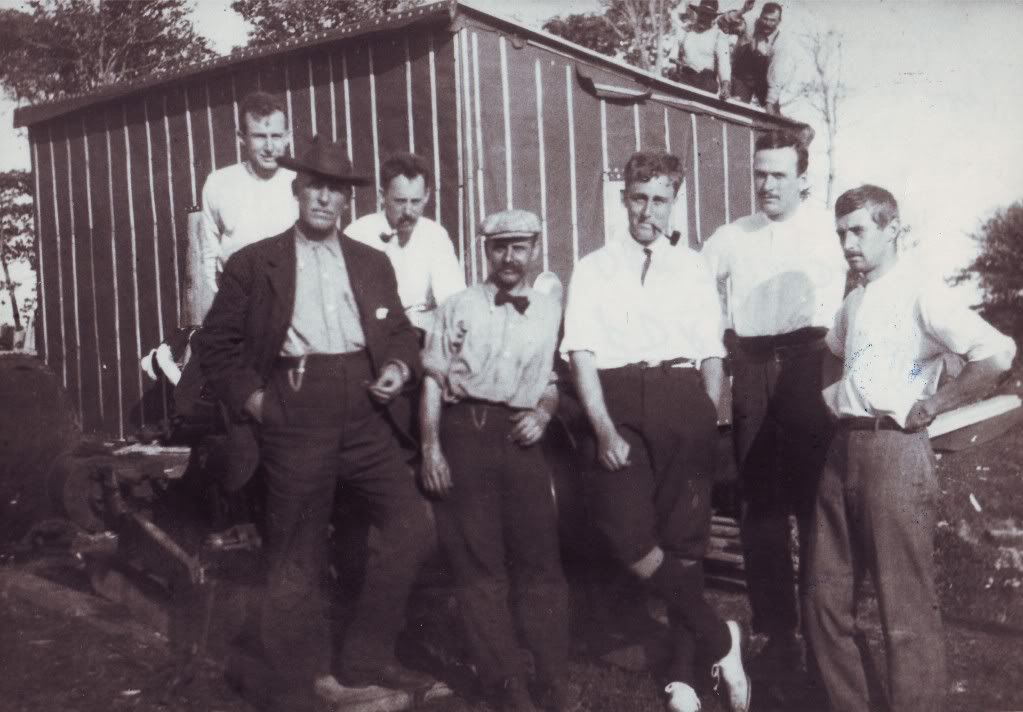 Roosevelt, Bowdoin and others on Oak Island, Summer 1909