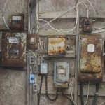 Electrics inside the Borehole 10X shed, Oak Island