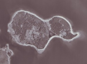 Aerial view of Oak Island (1965)