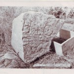 Stone found by Gilbert Hedden in 1936 at Joudrey's Cove, Oak Island