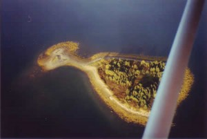 Aerial image by Ralph Keeping who flew over Oak and Frog Island