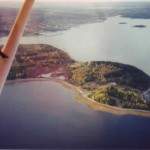 Aerial image by Ralph Keeping who flew over Oak Island