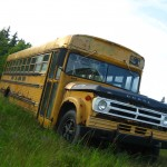 Old school tour bus, Oak Island