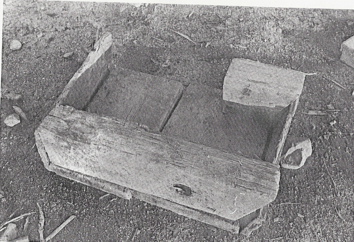 Wooden box found in Smith's Cove, Oak Island