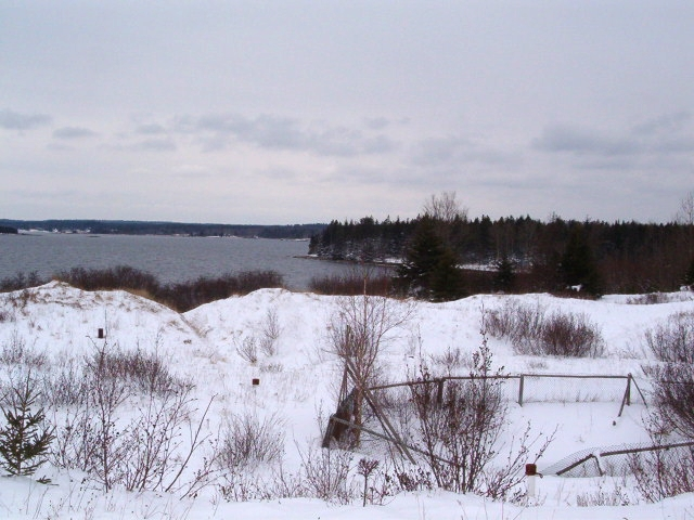 Money Pit, Oak Island, Winter 2004 - image courtesy of Garnette Blankenship