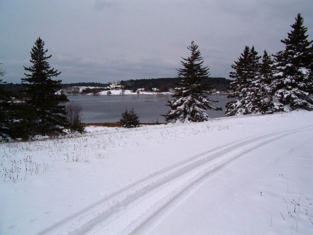 South Shore, Oak Island, Winter 2004 - image courtesy of Garnette Blankenship